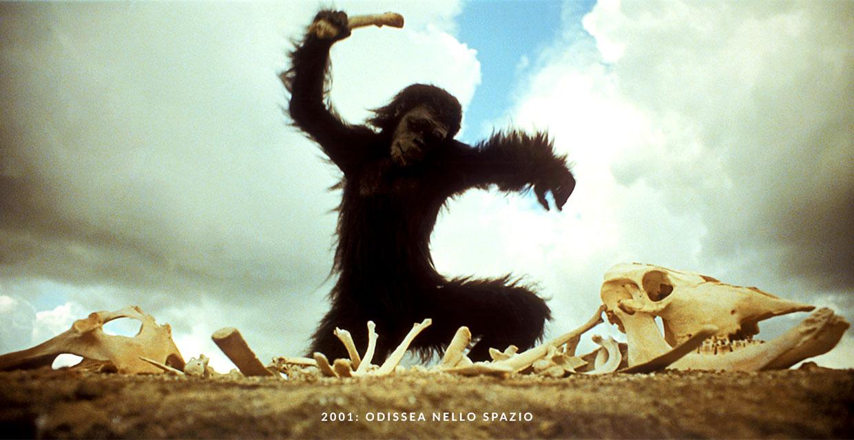 2001: Odissea Nello Spazio - la scimmia con l'osso