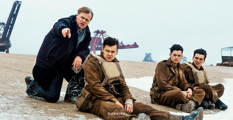 Dunkirk Christopher Nolan sul set