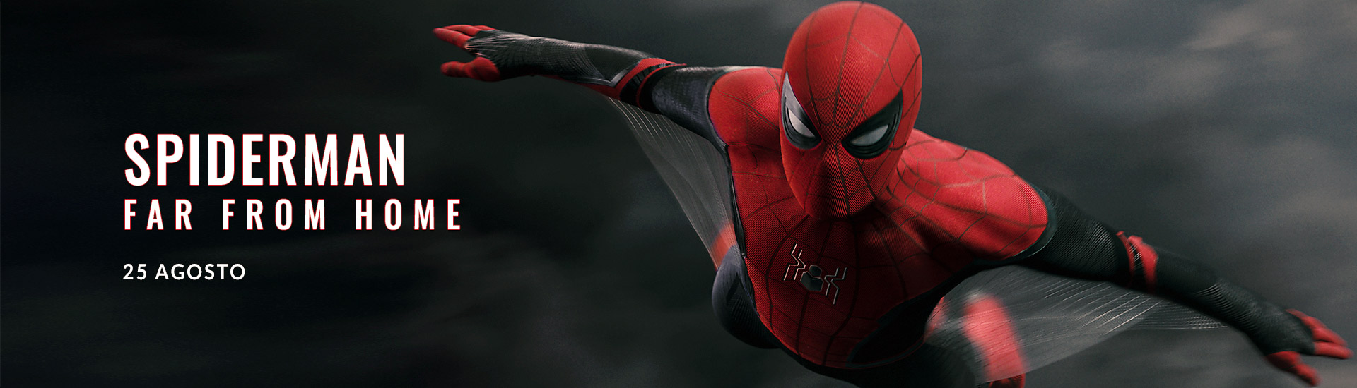 Spiderman Far From Home banner
